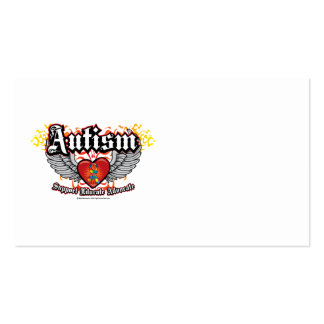 Alas del autismo tarjetas de visita