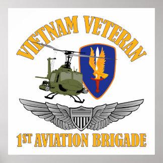 Alas del aviador del veterinario de Vietnam Posters
