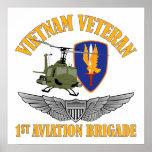 Alas del aviador del veterinario de Vietnam Póster