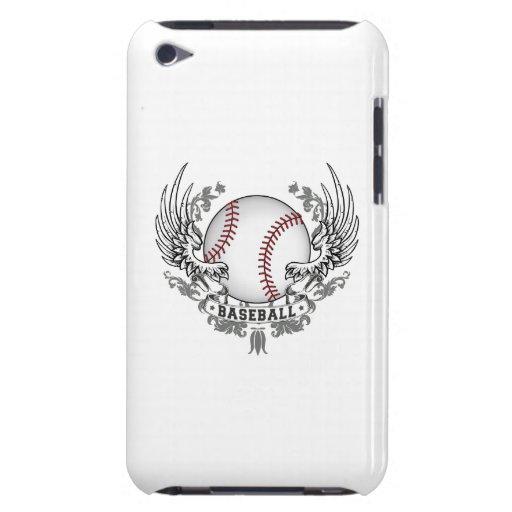 Alas del béisbol barely there iPod fundas