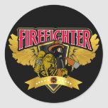 Alas del bombero pegatinas redondas