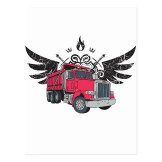 Alas del camión volquete postales