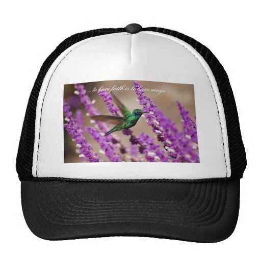 Alas del colibrí de los Violeta-oídos el chispear  Gorros