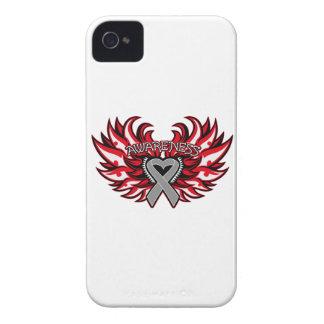 Alas del corazón de la conciencia de la diabetes iPhone 4 protector