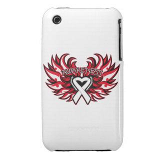 Alas del corazón de la conciencia de la enfermedad iPhone 3 cárcasas