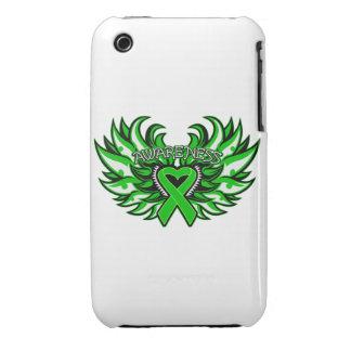 Alas del corazón de la conciencia de la salud ment Case-Mate iPhone 3 protectores