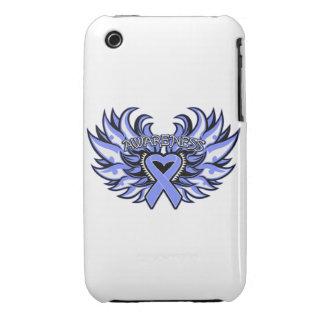 Alas del corazón de la conciencia de Nervosa de la iPhone 3 Case-Mate Cárcasas