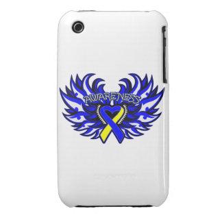 Alas del corazón de la conciencia de Síndrome de D iPhone 3 Carcasas