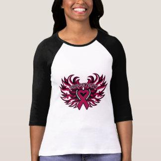 Alas del corazón de la conciencia del Amyloidosis T-shirts