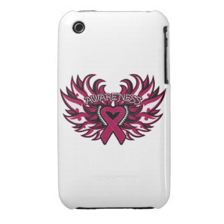 Alas del corazón de la conciencia del Aneurysm del Case-Mate iPhone 3 Cárcasas