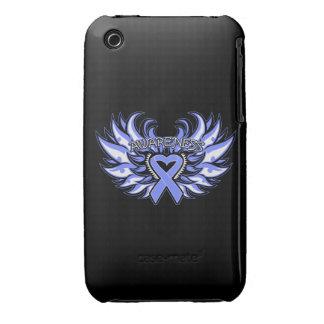 Alas del corazón de la conciencia del cáncer Case-Mate iPhone 3 protector