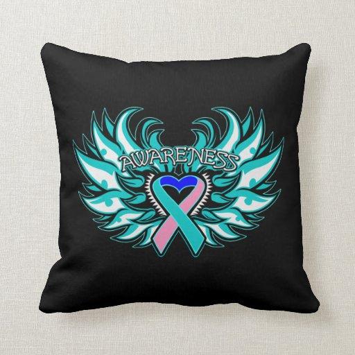 Alas del corazón de la conciencia del cáncer de ti almohadas