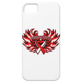 Alas del corazón de la conciencia del carcinoma de iPhone 5 carcasas