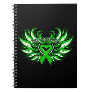 Alas del corazón de la conciencia del desorden spiral notebook