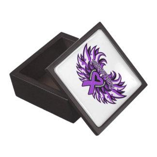 Alas del corazón de la conciencia del lupus cajas de regalo de calidad