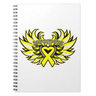 Alas del corazón de la conciencia del sarcoma cuadernos