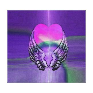 Alas del corazón y del ángel impresión en lona