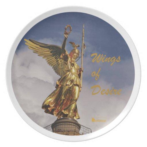 Alas del deseo - ángeles de Berlín Plato Para Fiesta