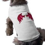 Alas del dragón camiseta de mascota