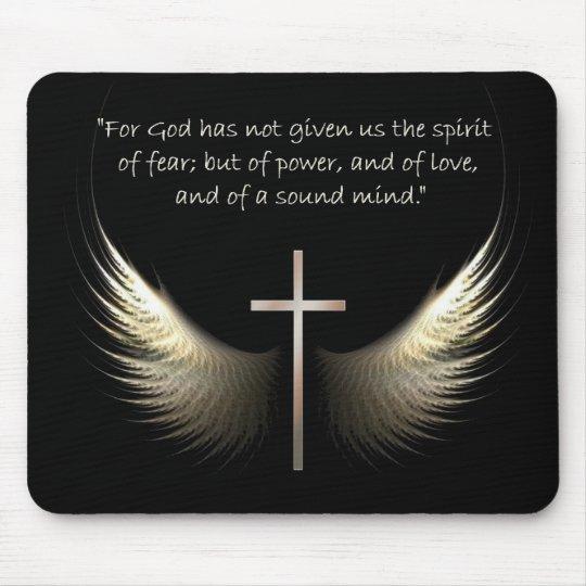 Alas del Espíritu Santo con verso de la cruz y de Alfombrillas De Ratón