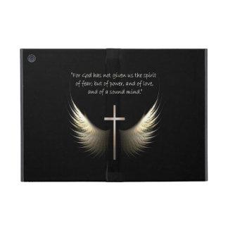 Alas del Espíritu Santo con verso de la cruz y de  iPad Mini Funda