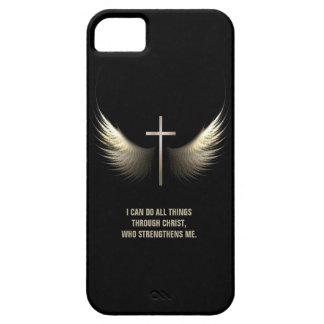 Alas del Espíritu Santo y cruz cristiana iPhone 5 Cárcasas