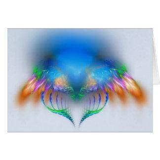 Alas del fractal tarjeta de felicitación