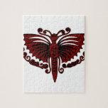 Alas del rojo de ladrillo de la mariposa puzzle