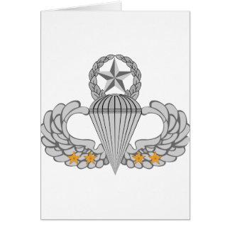 Alas del salto del combate cuatro del ejército tarjeta de felicitación