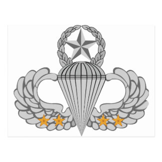Alas del salto del combate cuatro del ejército tarjeta postal