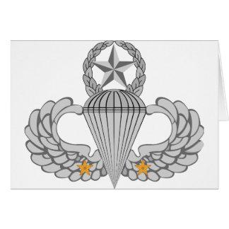 Alas del salto del combate dos del ejército tarjeta de felicitación