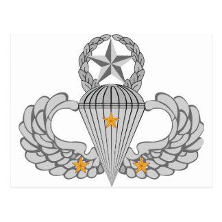 Alas del salto del combate tres del ejército postales