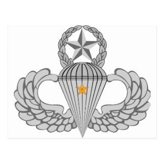 Alas del salto del combate uno del ejército postales