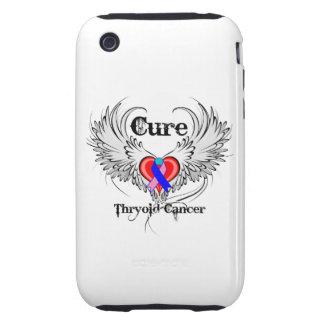 Alas del tatuaje del corazón - cáncer de tiroides  tough iPhone 3 cárcasas