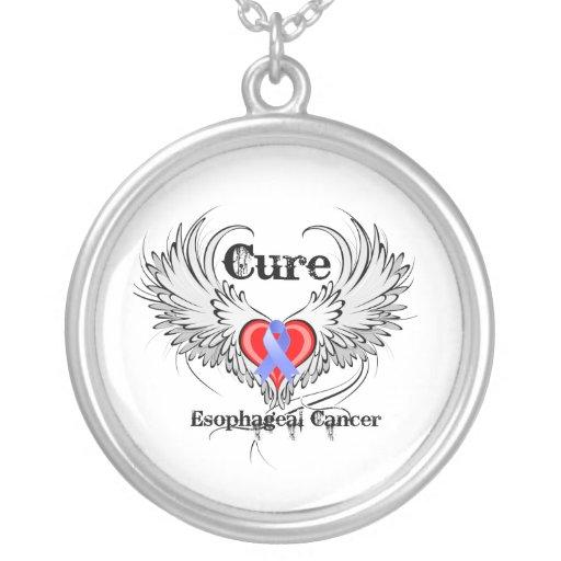 Alas del tatuaje del corazón - cáncer del esófago  joyeria