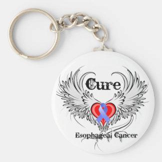 Alas del tatuaje del corazón - cáncer del esófago  llavero redondo tipo pin