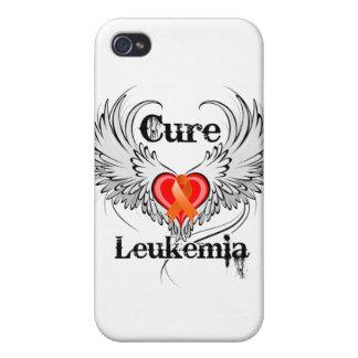 Alas del tatuaje del corazón de la leucemia de la  iPhone 4 fundas