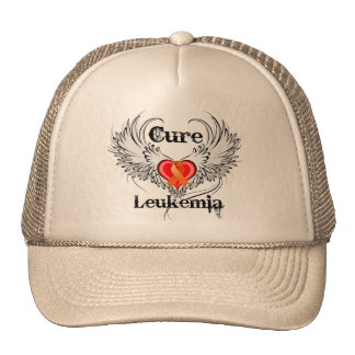 Alas del tatuaje del corazón de la leucemia de la  gorro de camionero