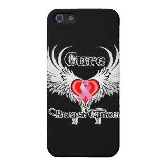Alas del tatuaje del corazón del cáncer de pecho d iPhone 5 cárcasa