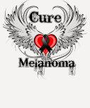 Alas del tatuaje del corazón del melanoma de la playeras