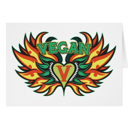 Alas del vegano felicitaciones