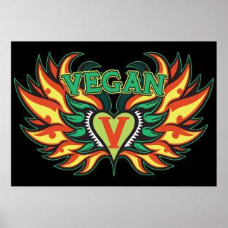 Alas del vegano póster