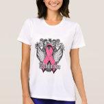Alas del vintage del guerrero - cáncer de pecho camisetas