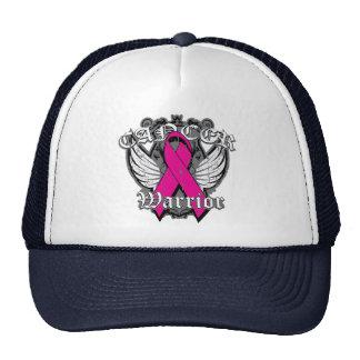 Alas del vintage del guerrero - cáncer de pecho v2 gorras de camionero