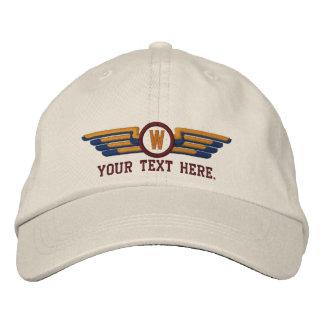 Alas experimentales personalizadas de los laureles gorra de beisbol