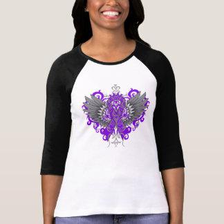 Alas frescas de la conciencia del lupus camisetas