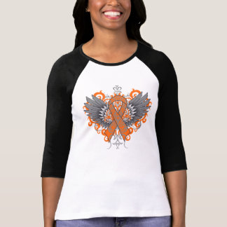 Alas frescas de la leucemia camisetas
