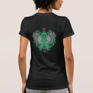 Alas frescas del cáncer de hígado camiseta