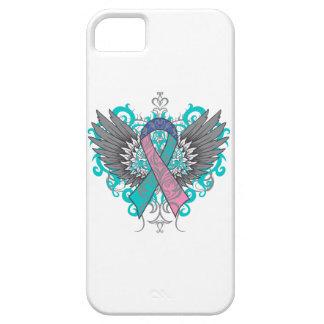 Alas frescas del cáncer de tiroides funda para iPhone SE/5/5s