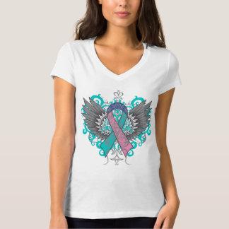 Alas frescas del cáncer de tiroides playera